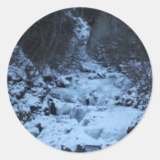 Pioneer Falls Butte Alaska Classic Round Sticker