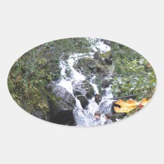 Pioneer Falls Butte Alaska Oval Sticker