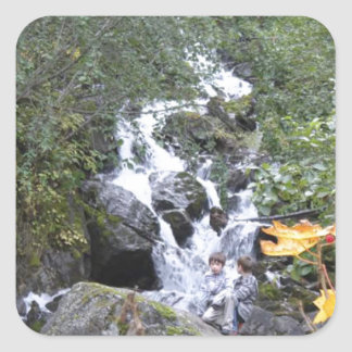 Pioneer Falls Butte Alaska Square Sticker