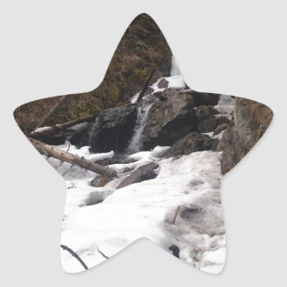 Pioneer Falls Butte Alaska Star Sticker