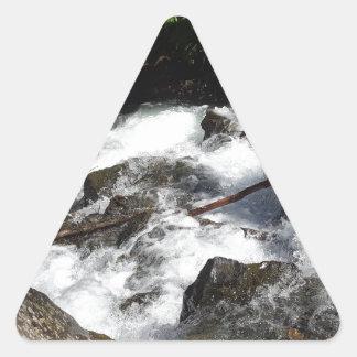 Pioneer Falls Butte Alaska Triangle Sticker