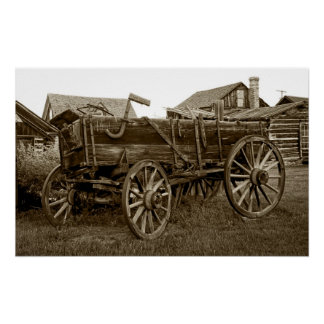 Pioneer Freight Wagon - Nevada City Ghost Town Poster