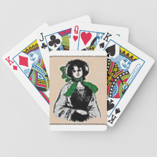 Pioneer Lady Bicycle Playing Cards