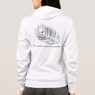 Pioneer partners zazzle peacock feather and flower hoodie