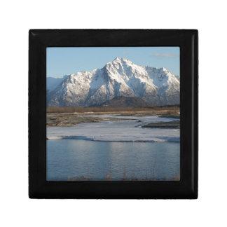 Pioneer Peak Mountain and Matanuska river Gift Box