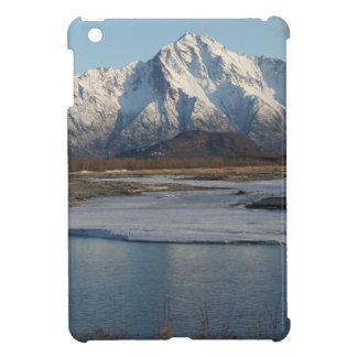 Pioneer Peak Mountain and Matanuska river iPad Mini Cover