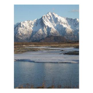 Pioneer Peak Mountain and Matanuska river Letterhead