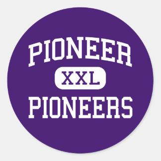 Pioneer - Pioneers - High - Ann Arbor Michigan Round Sticker