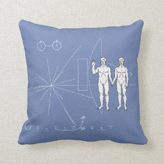 Pioneer Plaque  Adam & Adam Throw Pillow