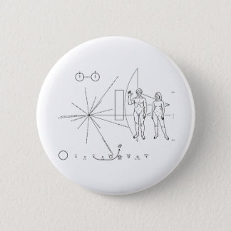 Pioneer plaque for Alien Contact in Space 2 Inch Round Button