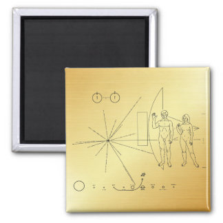 """Pioneer plaque """"Too small!"""" Magnet"""