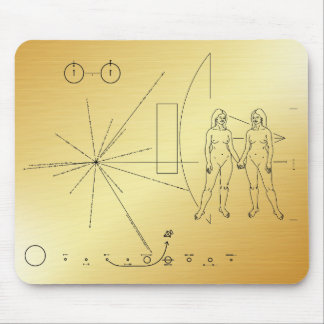 Pioneer plaque Women Mouse Pad
