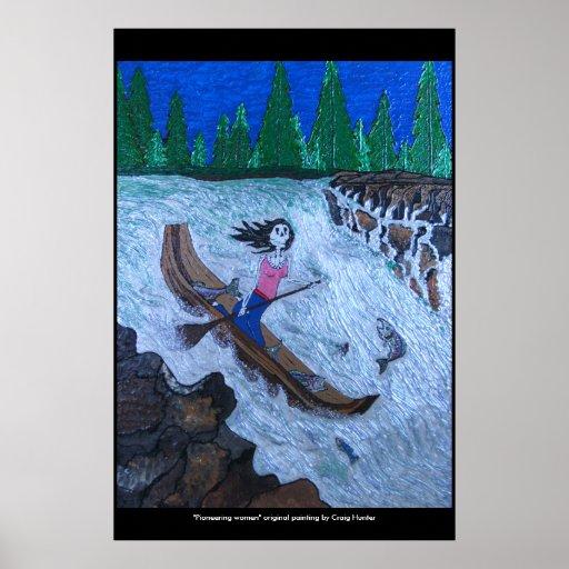 """Pioneering woman"" Poster"