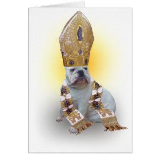 Pious Bulldog Card