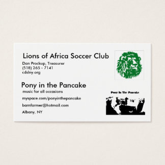 PIP, Lions of Africa Business Card