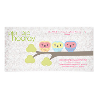 Pip Pip Hooray Backing Card for Hand Made Product Photo Card Template
