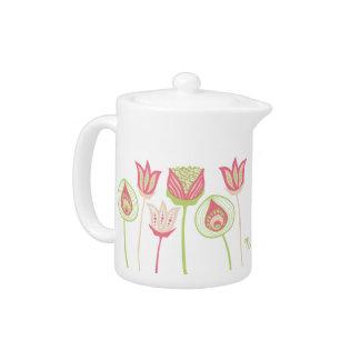 Pip Pip Hooray Designer Flowers Tea Pot