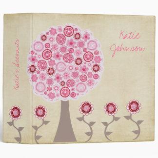 Pip Pip Hooray Pink Blossom Tree Binder Folder