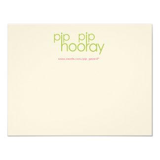 "Pip Pip Hooray Product Backing Card 4.25"" X 5.5"" Invitation Card"