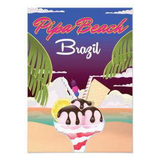 Pipa Beach Brazil Vacation poster