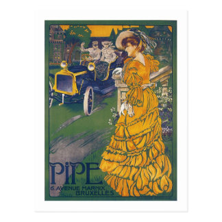 Pipe Automobile - Vintage Belgian Advertisement Postcard
