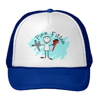 Pipe Fitter Stick Man Trucker Hat