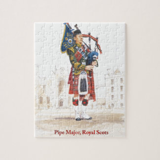 Pipe Major, Royal Scots Guards Jigsaw Puzzle