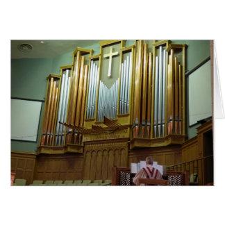 Pipe Organ and Organist Card