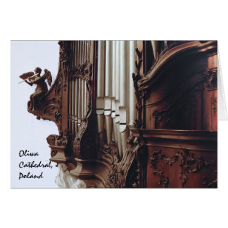 pipe organ in Oliwa Cathedral  greeting card