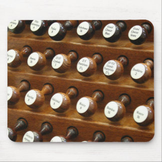Pipe organ stops mousepad