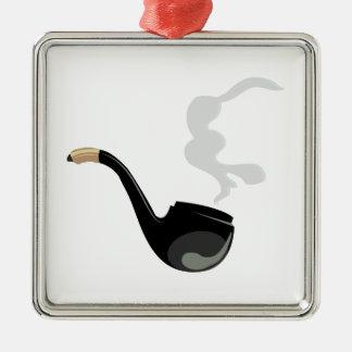 Pipe Smoke Metal Ornament