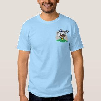 Pipe Smoking Golf Ball Embroidered Shirt