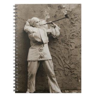 Pipe Smoking Mime 1895 Notebook