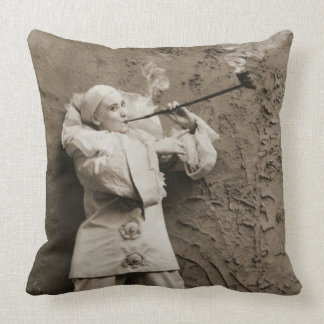Pipe Smoking Mime 1895 Throw Pillow