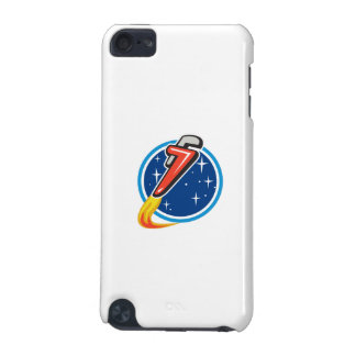 Pipe Wrench Rocket Blasting Off Orbit Space Circle iPod Touch 5G Covers