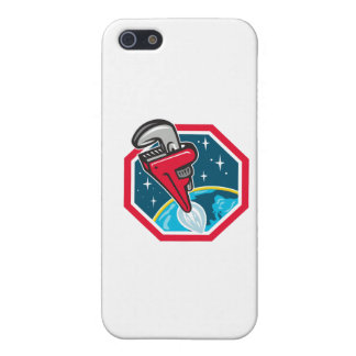Pipe Wrench Rocket Booster Blasting Space Hexagon Cover For iPhone 5/5S