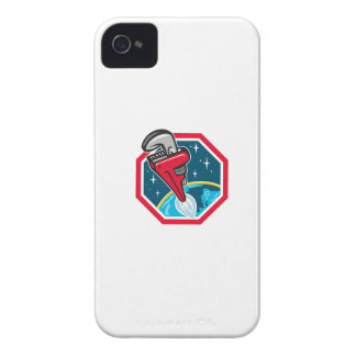 Pipe Wrench Rocket Booster Blasting Space Hexagon iPhone 4 Case-Mate Cases