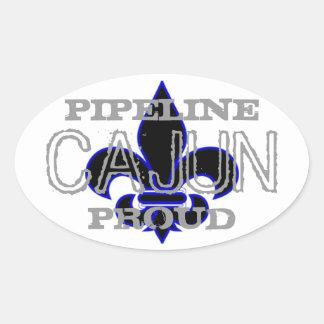 Pipeline Cajun Oval Sticker