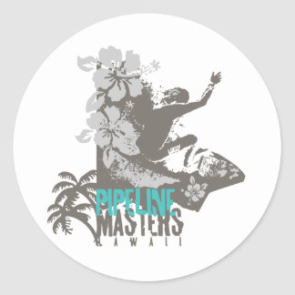 Pipeline Masters Classic Round Sticker