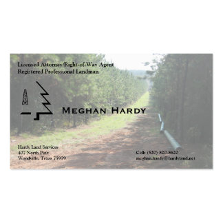 Pipeline Right-of-Way Pack Of Standard Business Cards
