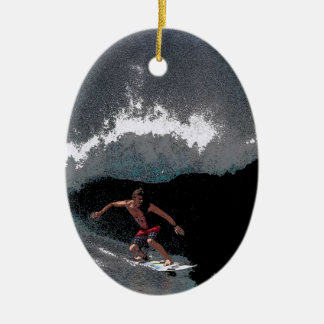 Pipeline Surfer Christmas Ornament
