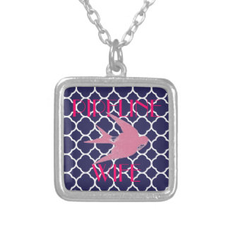 PIPELINE WIFE SQUARE PENDANT NECKLACE