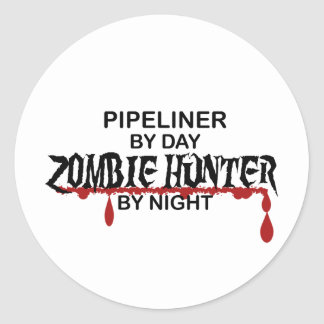 Pipeliner Zombie Hunter Classic Round Sticker