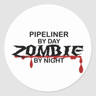 Pipeliner Zombie Round Sticker