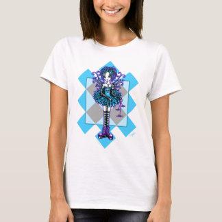 """Piper"" Harlequin Dragonfly Fairy Black Babydoll T-Shirt"