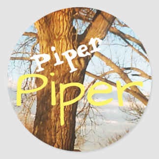 Piper on a Tree Stickers