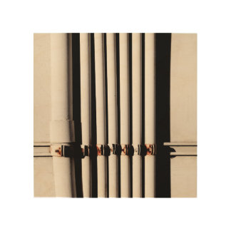 Pipes and Shadows Wood Wall Decor