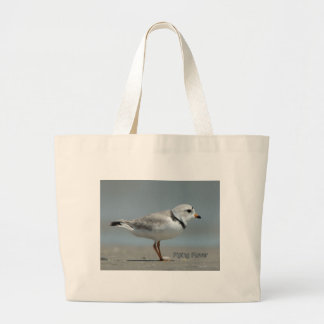 Piping Plover Large Tote Bag
