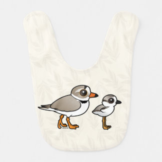 Piping Plover with chick Bibs