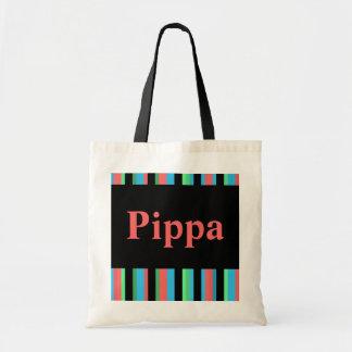 Pippa Pretty Striped Tote Bag / Beach Bag